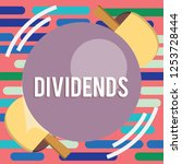 text sign showing dividends.... | Shutterstock . vector #1253728444