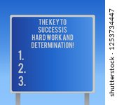 text sign showing the key to... | Shutterstock . vector #1253734447