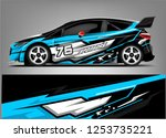 car wrap design vector  truck... | Shutterstock .eps vector #1253735221