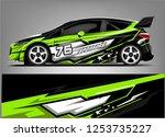 car wrap design vector  truck... | Shutterstock .eps vector #1253735227