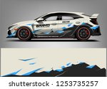 car wrap design vector  truck... | Shutterstock .eps vector #1253735257