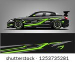 car wrap design vector  truck... | Shutterstock .eps vector #1253735281