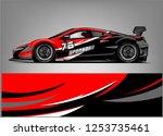 car wrap design vector  truck... | Shutterstock .eps vector #1253735461