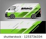 company car wrap. wrap design... | Shutterstock .eps vector #1253736334