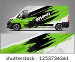 company car wrap. wrap design... | Shutterstock .eps vector #1253736361