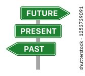 future  present and past green... | Shutterstock .eps vector #1253739091
