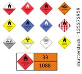 labels  warning characters | Shutterstock .eps vector #125373959