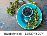 superfood maqui berry.... | Shutterstock . vector #1253746207