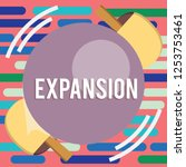 text sign showing expansion....   Shutterstock . vector #1253753461