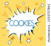 handwriting text cookies.... | Shutterstock . vector #1253757841