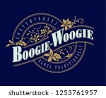 vintage badge typography label... | Shutterstock .eps vector #1253761957