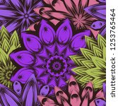 seamless floral background.... | Shutterstock .eps vector #1253765464