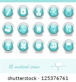 medical icons | Shutterstock .eps vector #125376761