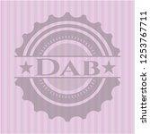 dab vintage pink emblem | Shutterstock .eps vector #1253767711