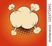 comic explosion cloud. comic...   Shutterstock .eps vector #1253772091