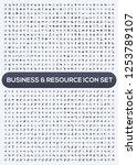 business vector icon set | Shutterstock .eps vector #1253789107