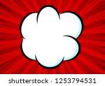 cloud  speech bubble. abstract...   Shutterstock .eps vector #1253794531
