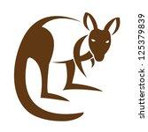 Vector Image Of An Kangaroo On...