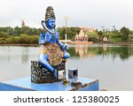 statue of shiva in a hindu... | Shutterstock . vector #125380025