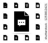 communication bubble on...   Shutterstock .eps vector #1253812621