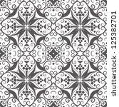 vector seamless gray floral...   Shutterstock .eps vector #125382701