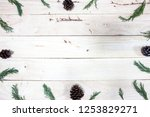 christmas frame with paper on...   Shutterstock . vector #1253829271