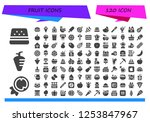 vector icons pack of 120 filled ... | Shutterstock .eps vector #1253847967