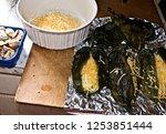 stuffed green chile peppers ... | Shutterstock . vector #1253851444