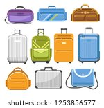 bags different type models of... | Shutterstock .eps vector #1253856577