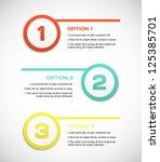 one two three   vector progress ... | Shutterstock .eps vector #125385701