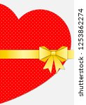 heart from paper tied with...   Shutterstock .eps vector #1253862274