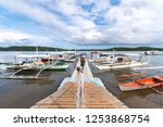 nov 15 2018 tourists on a boat... | Shutterstock . vector #1253868754