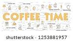 coffee background. flat design. ...   Shutterstock .eps vector #1253881957