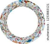 amorphous geometric forms...   Shutterstock .eps vector #1253883121
