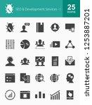 seo glyph icons | Shutterstock .eps vector #1253887201