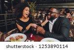 african handsome man proposing...   Shutterstock . vector #1253890114