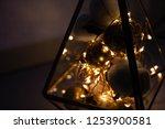 garland in a glass flask.... | Shutterstock . vector #1253900581
