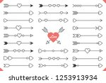 Stock vector  hand drawn arrows with hearts design elements for valentine s day and wedding vector eps 1253913934