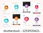 abstract vector business... | Shutterstock .eps vector #1253920621