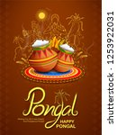 illustration of happy pongal... | Shutterstock .eps vector #1253922031