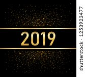 happy new year gold background. ... | Shutterstock .eps vector #1253923477