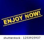 grunge enjoy now  stamp...   Shutterstock .eps vector #1253925937