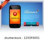 mobile template vector design