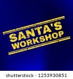 grunge santa's workshop stamp... | Shutterstock .eps vector #1253930851