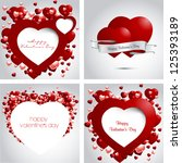 heart from paper valentines day ... | Shutterstock .eps vector #125393189