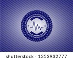 electrocardiogram icon inside... | Shutterstock .eps vector #1253932777