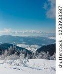 winter calm mountain landscape...   Shutterstock . vector #1253933587