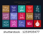 christmas and new year hand... | Shutterstock .eps vector #1253935477