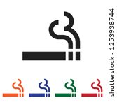 smoking vector icon | Shutterstock .eps vector #1253938744