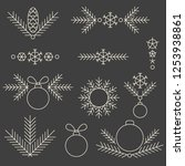 minimalistic linear new year... | Shutterstock .eps vector #1253938861